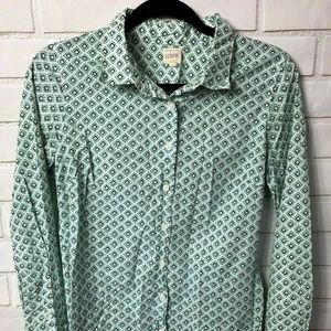 J Crew Small Perfect Shirt Long Sleeve Button Down